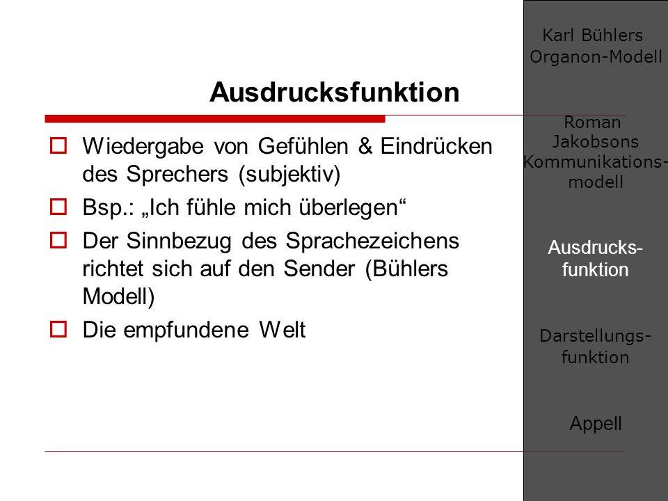 Karl Bühlers Organon-Modell
