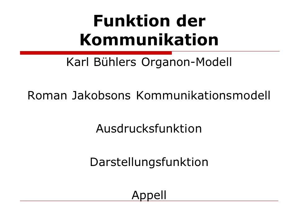Funktion der Kommunikation