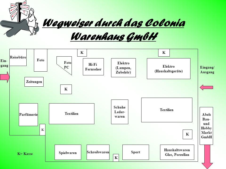 Wegweiser durch das Colonia Warenhaus GmbH