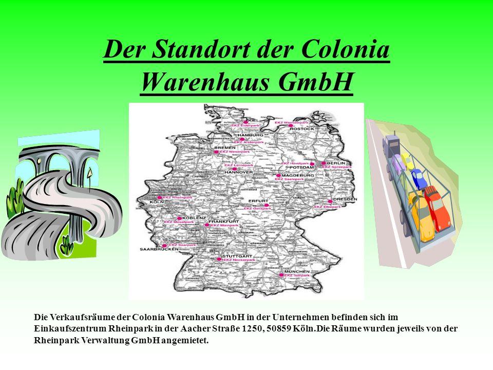 Der Standort der Colonia Warenhaus GmbH
