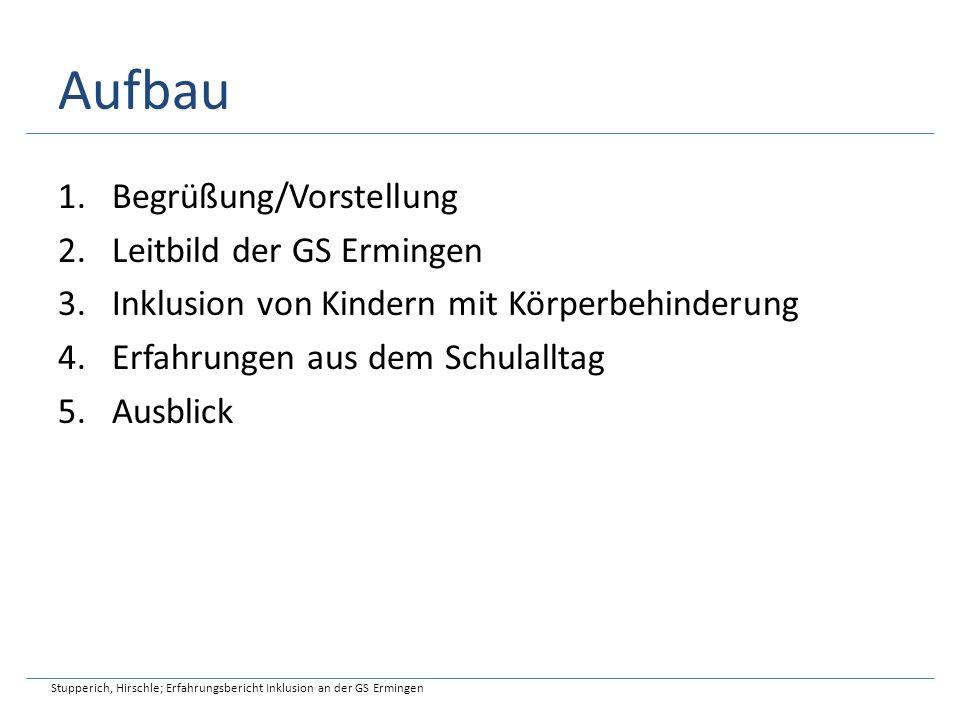 Aufbau Begrüßung/Vorstellung Leitbild der GS Ermingen