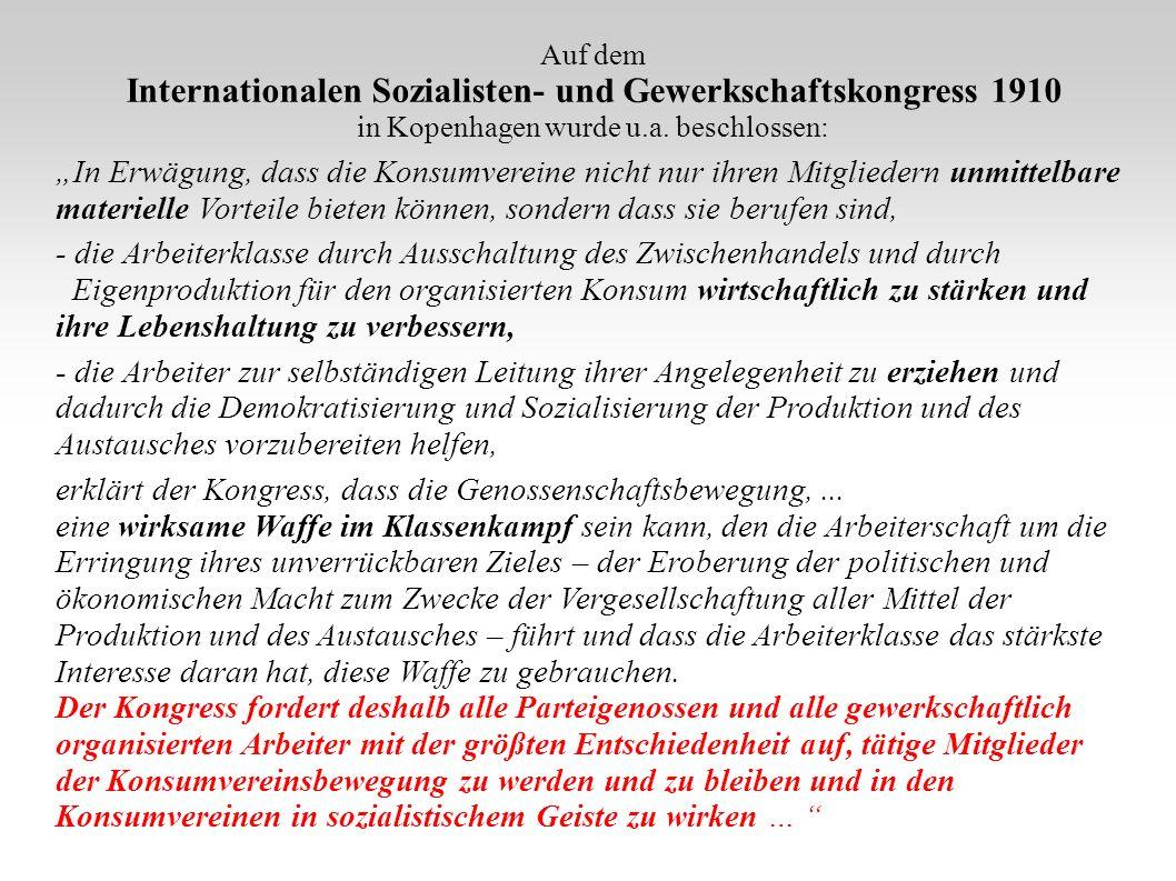 Internationalen Sozialisten- und Gewerkschaftskongress 1910
