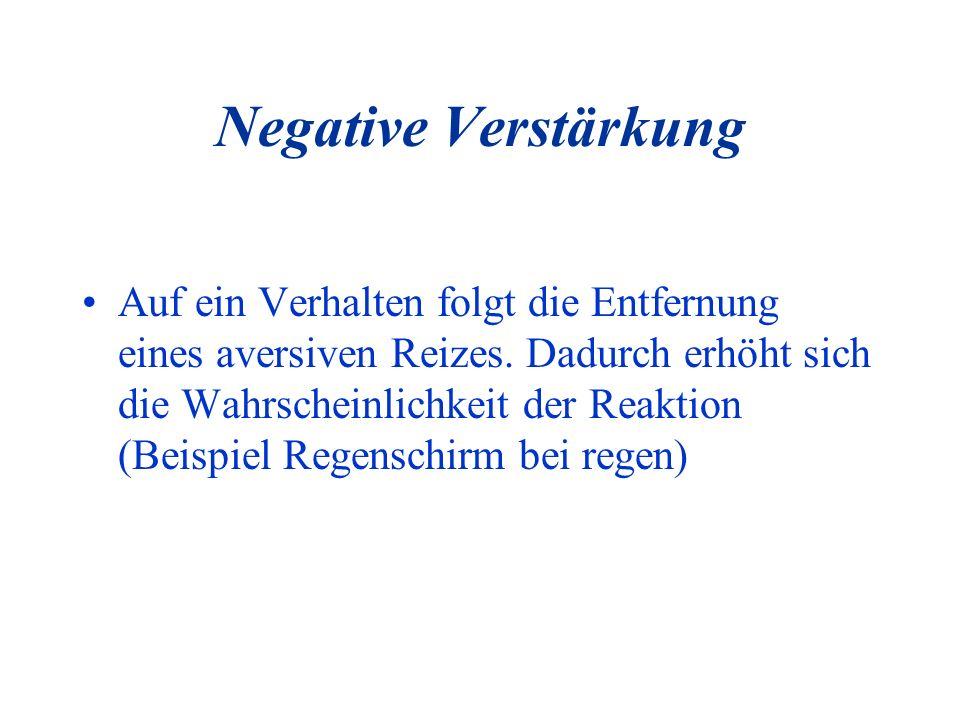 Negative Verstärkung