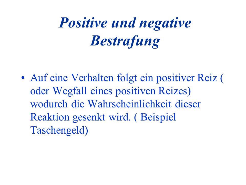 Positive und negative Bestrafung
