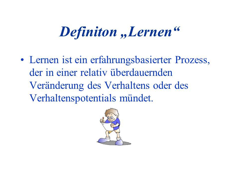 """Definiton """"Lernen"""