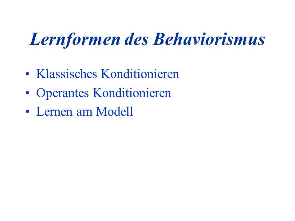 Lernformen des Behaviorismus