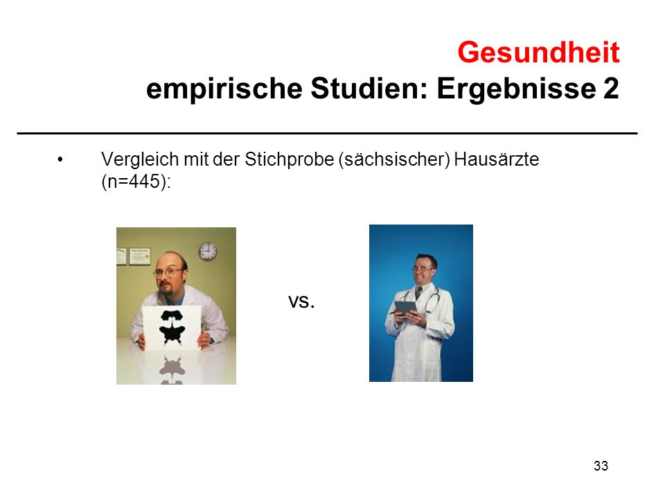 Gesundheit empirische Studien: Ergebnisse 2