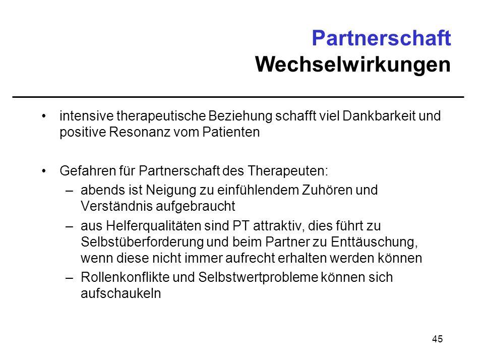 Partnerschaft Wechselwirkungen
