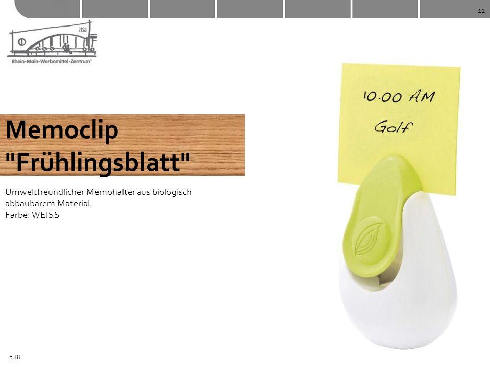 Memoclip Frühlingsblatt