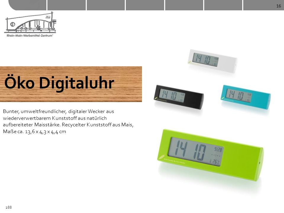 16 Öko Digitaluhr.
