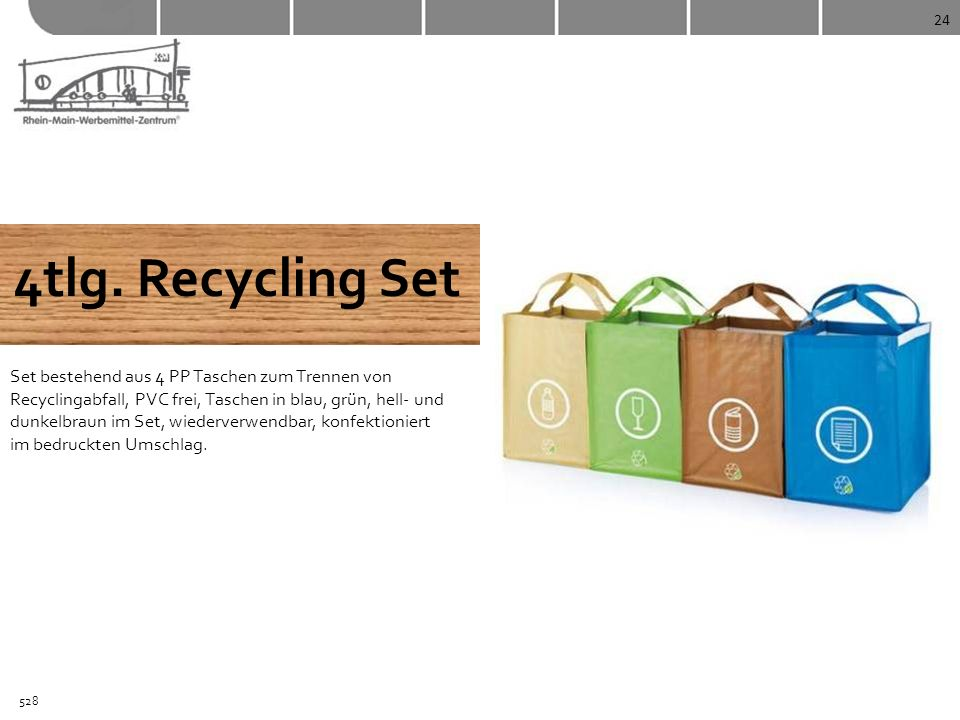 24 4tlg. Recycling Set.