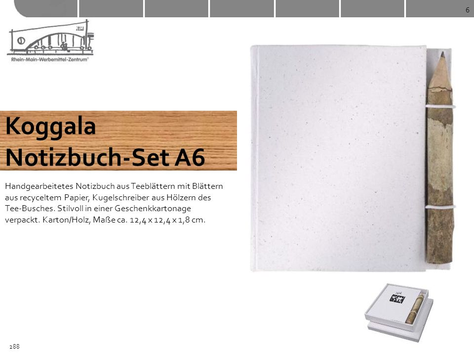 Koggala Notizbuch-Set A6