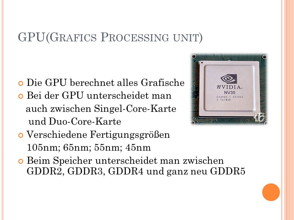 GPU(Grafics Processing unit)