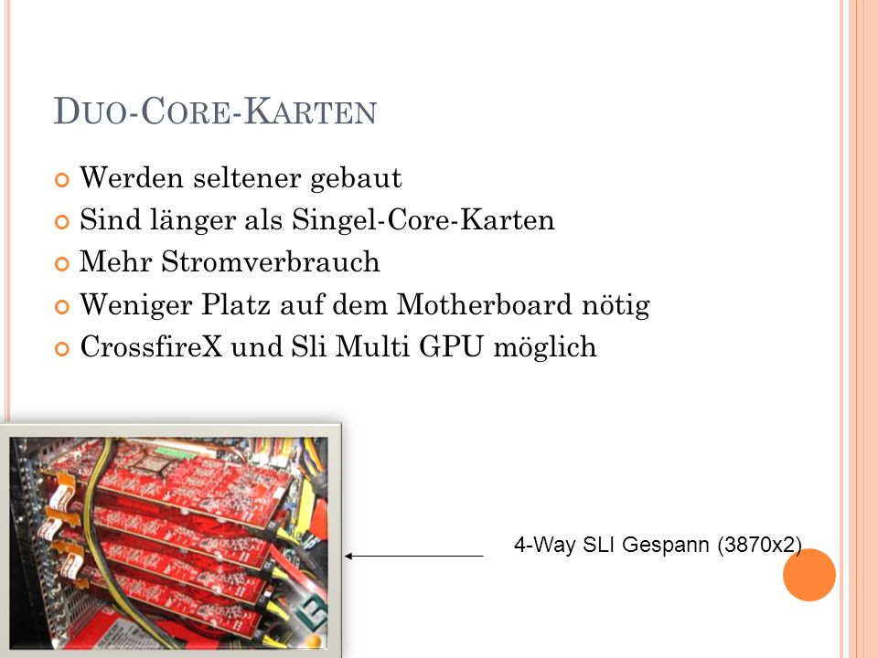 Duo-Core-Karten Werden seltener gebaut