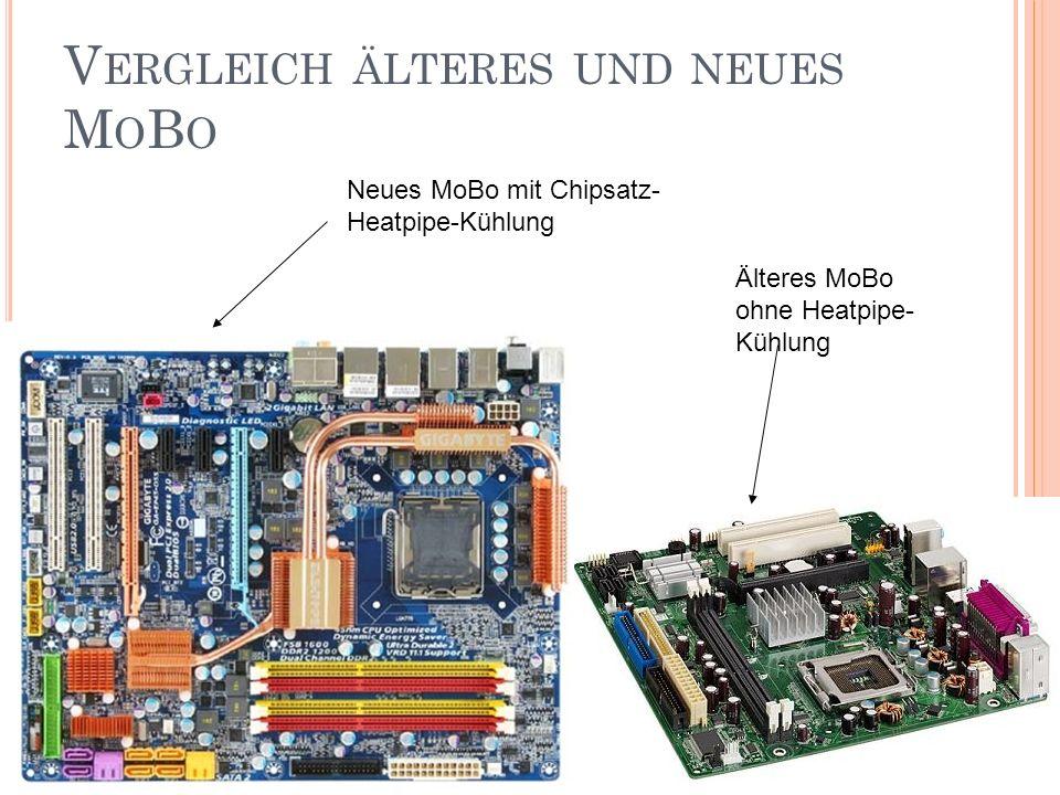 Vergleich älteres und neues MoBo