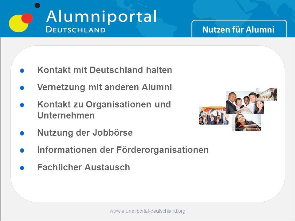 Nutzen für Alumni Kontakt mit Deutschland halten