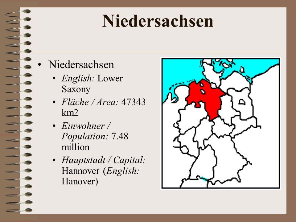 Niedersachsen Niedersachsen English: Lower Saxony
