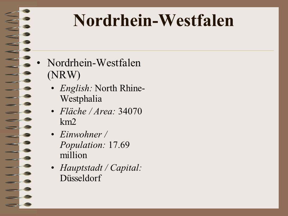 Nordrhein-Westfalen Nordrhein-Westfalen (NRW)