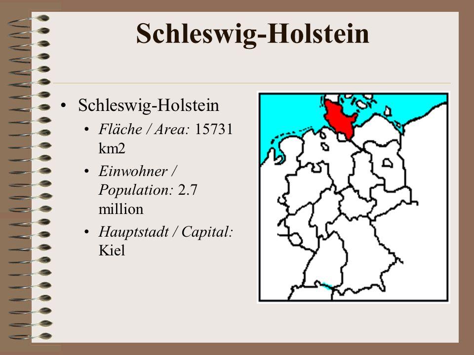 Schleswig-Holstein Schleswig-Holstein Fläche / Area: 15731 km2