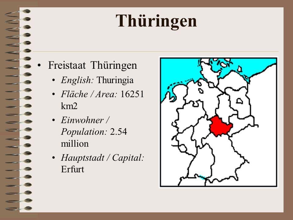 Thüringen Freistaat Thüringen English: Thuringia