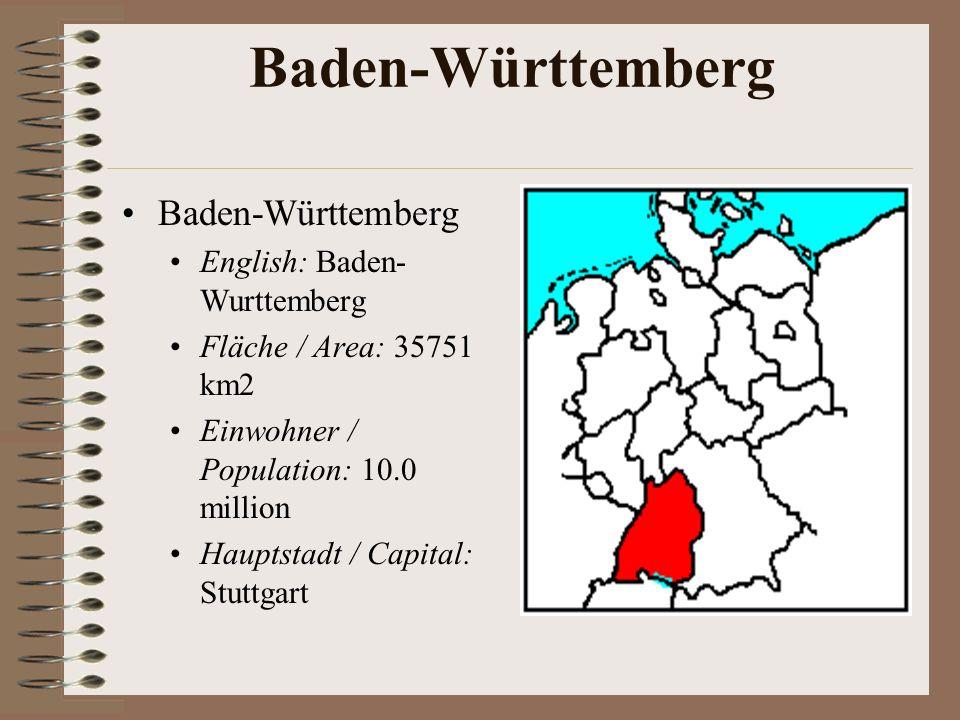 Baden-Württemberg Baden-Württemberg English: Baden-Wurttemberg