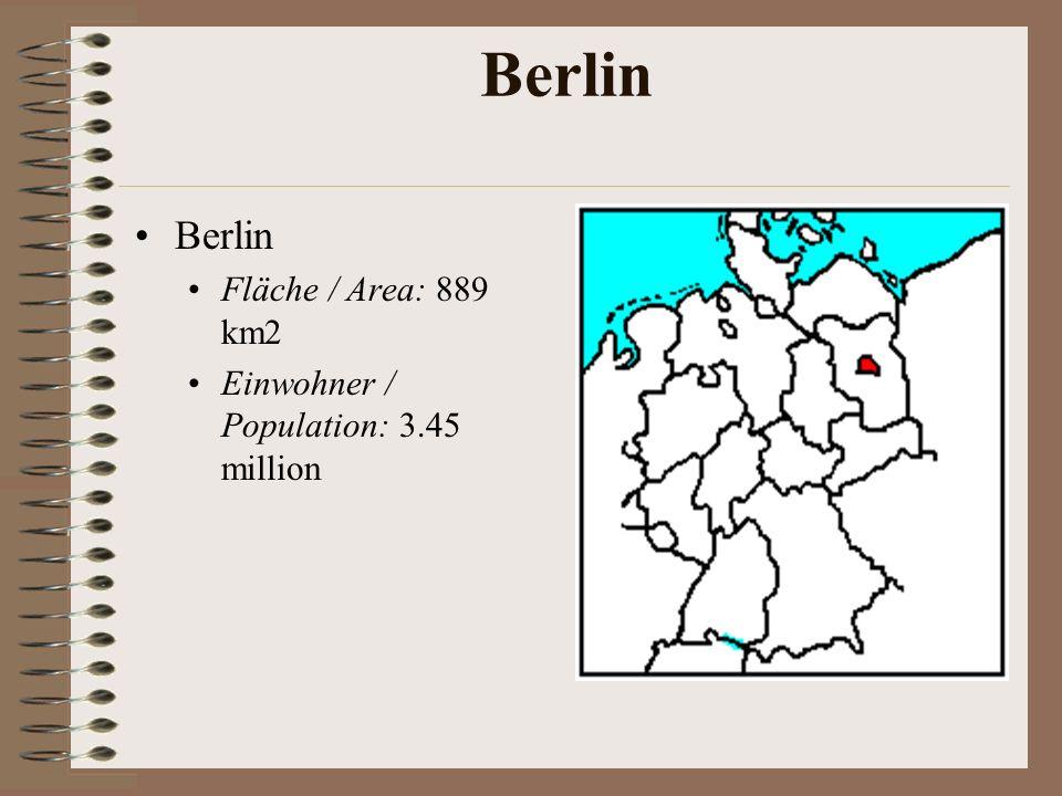 Berlin Berlin Fläche / Area: 889 km2