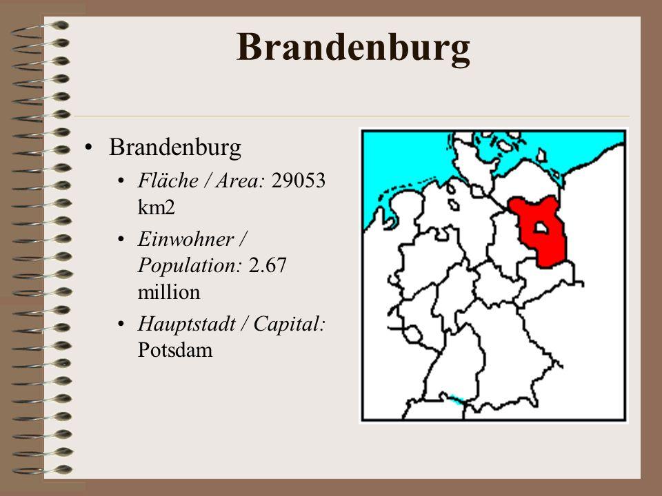 Brandenburg Brandenburg Fläche / Area: 29053 km2