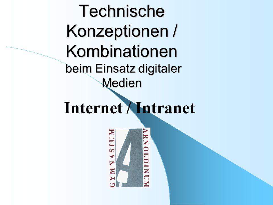 Technische Konzeptionen / Kombinationen beim Einsatz digitaler Medien