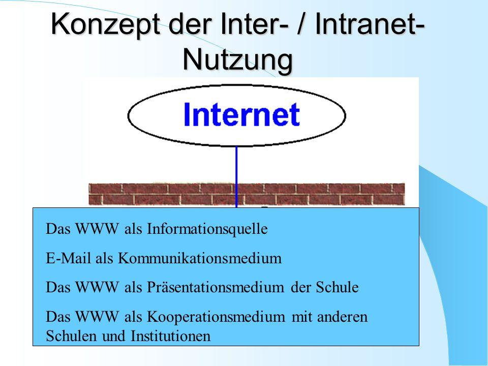 Konzept der Inter- / Intranet-Nutzung