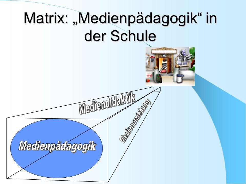 """Matrix: """"Medienpädagogik in der Schule"""