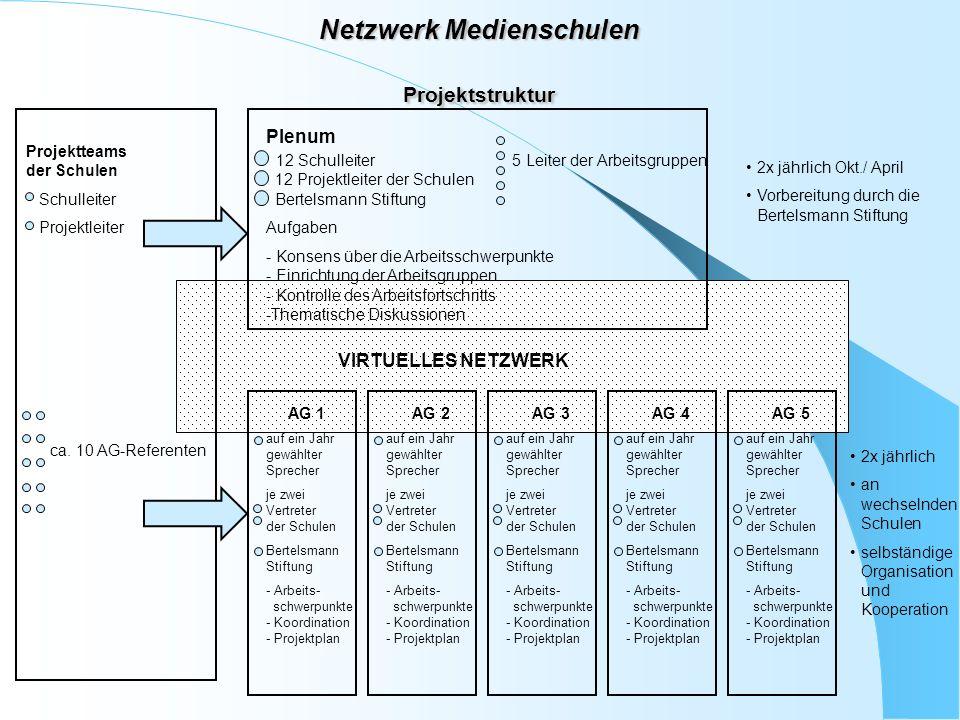 Netzwerk Medienschulen Projektstruktur