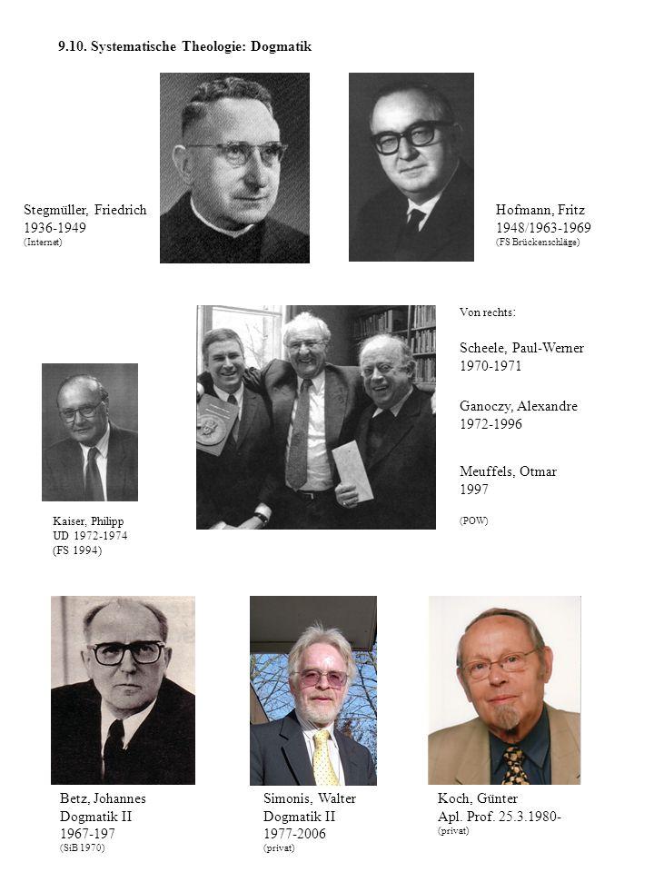 9.10. Systematische Theologie: Dogmatik