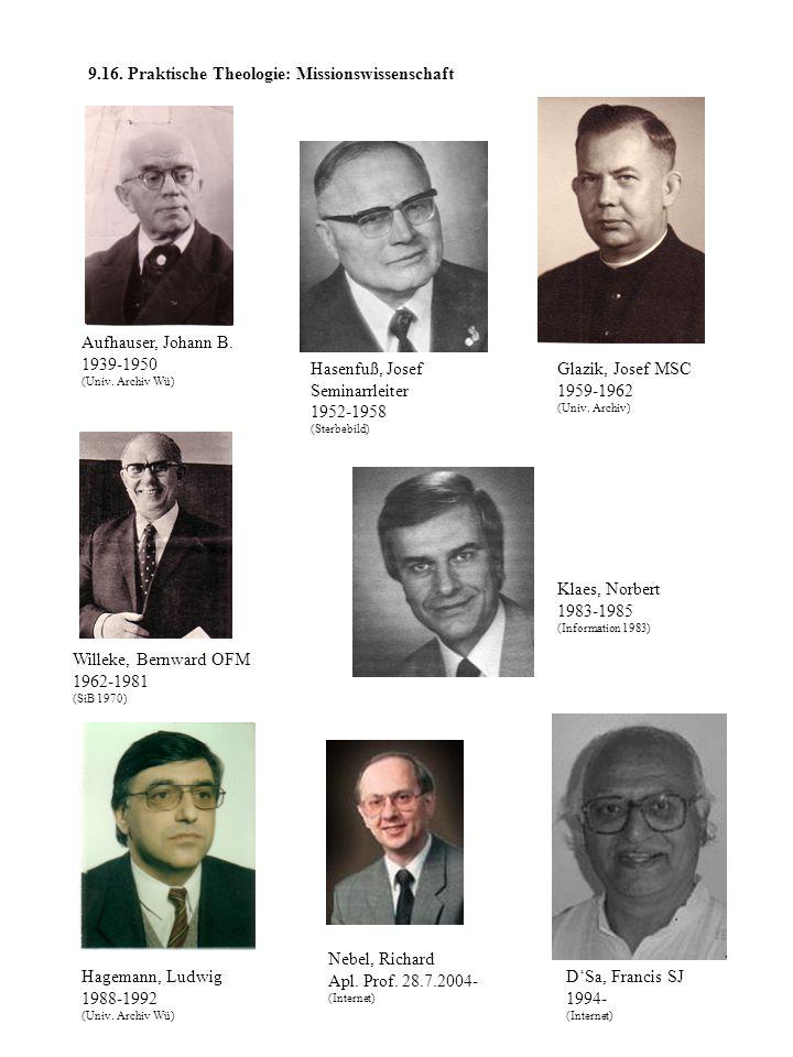 9.16. Praktische Theologie: Missionswissenschaft