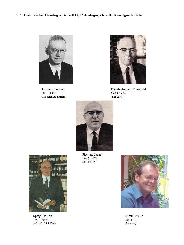 9. 5. Historische Theologie: Alte KG, Patrologie, christl