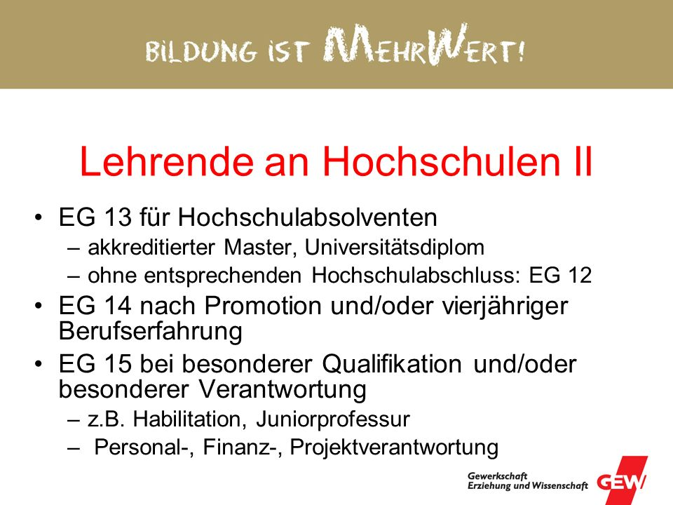 Lehrende an Hochschulen II