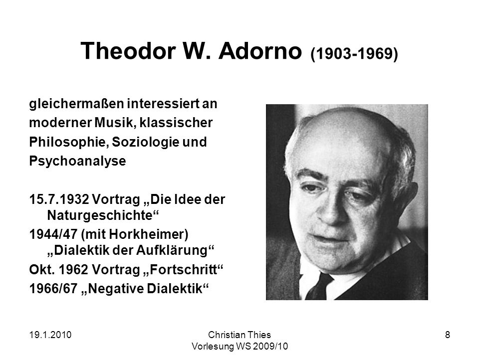 an analysis of the dialectic of enlightenment by adorno and horkheimers Other articles where dialectic of enlightenment is discussed: political philosophy: horkheimer, adorno, and marcuse: in dialectic of enlightenment (1947), horkheimer and adorno argued that the celebration of reason by thinkers of the 18th-century enlightenment had led to the development of technologically sophisticated but oppressive and inhumane modes of governance, exemplified in the 20th .