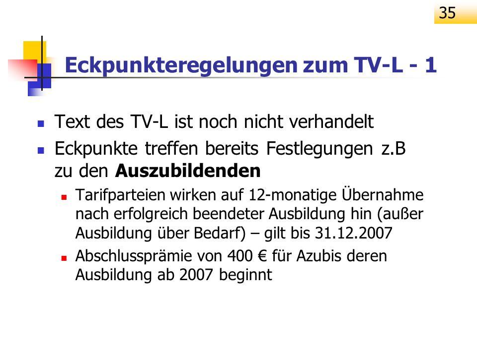 Eckpunkteregelungen zum TV-L - 1