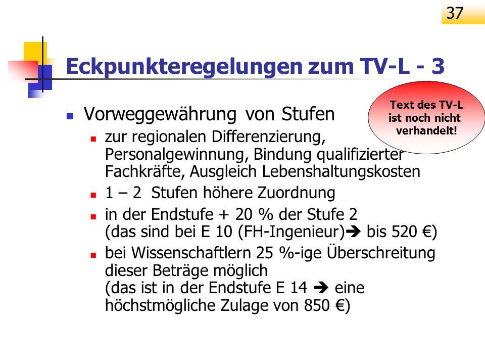 Eckpunkteregelungen zum TV-L - 3