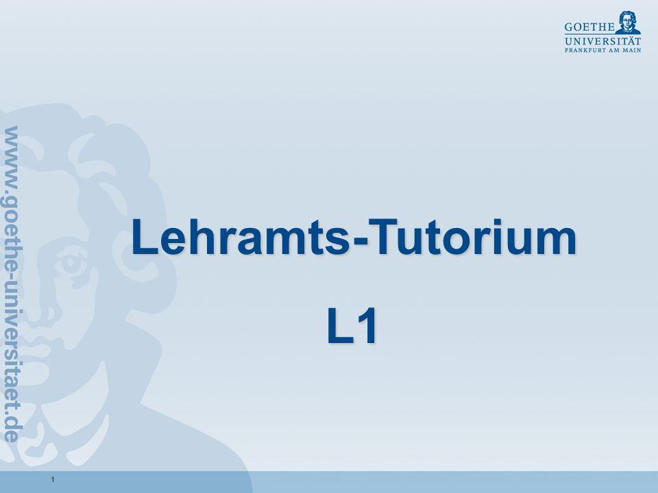 Lehramts-TutoriumL1.