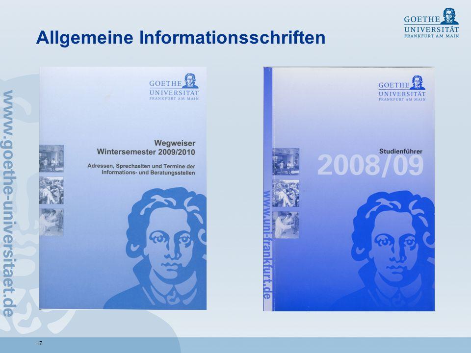 Allgemeine Informationsschriften