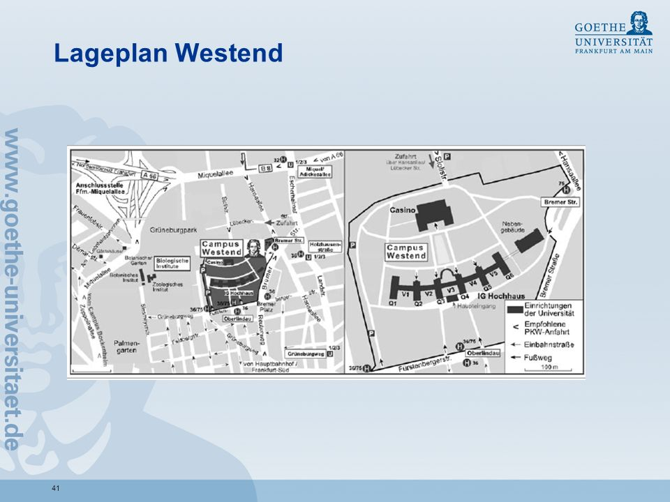 Lageplan Westend