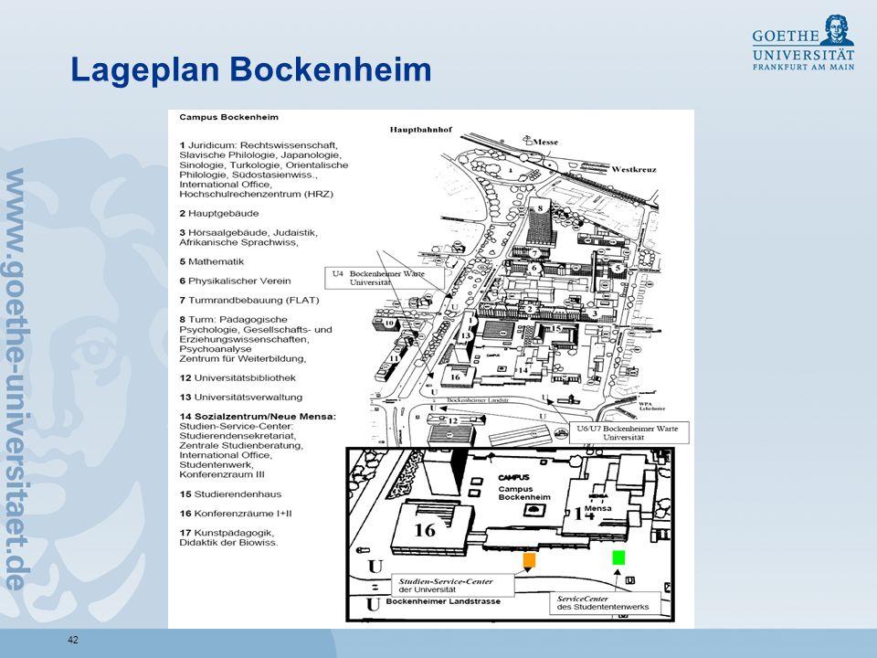 Lageplan Bockenheim