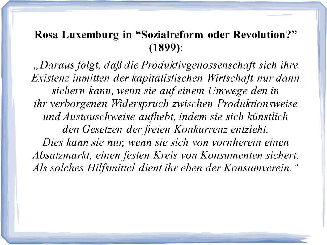 Rosa Luxemburg in Sozialreform oder Revolution