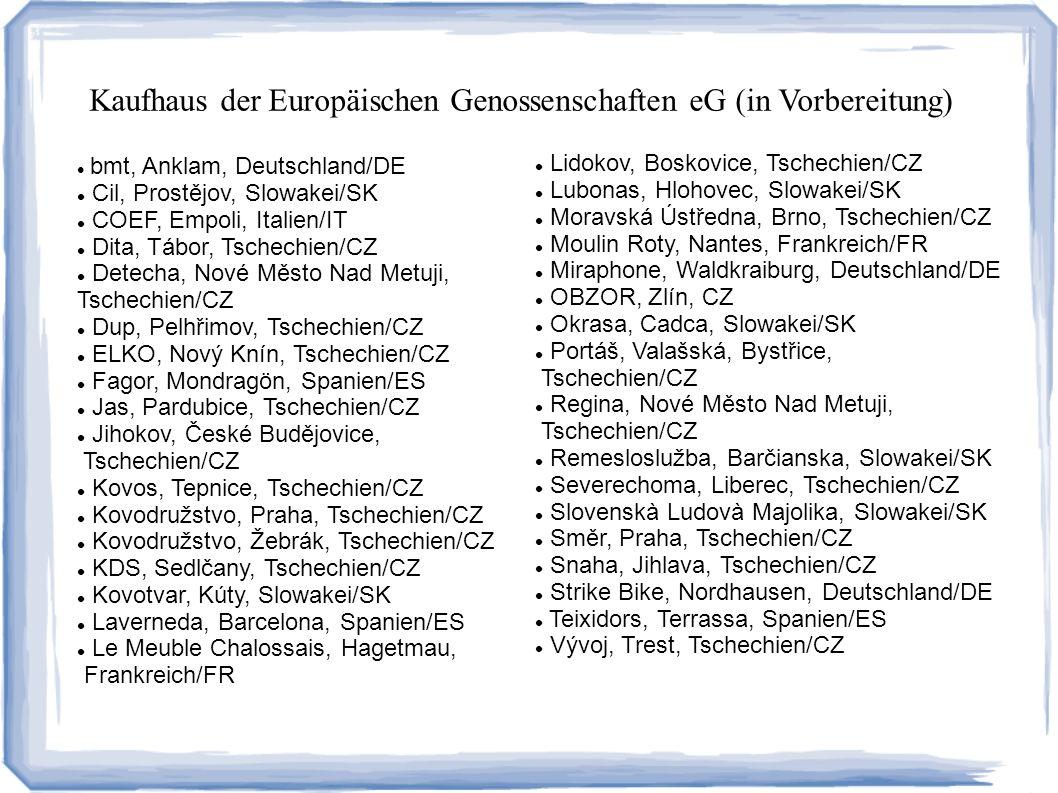 Kaufhaus der Europäischen Genossenschaften eG (in Vorbereitung)