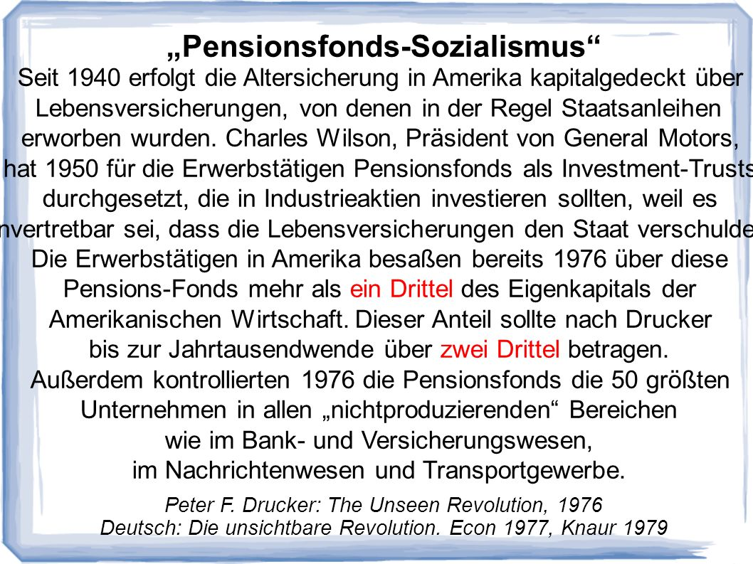 """Pensionsfonds-Sozialismus"