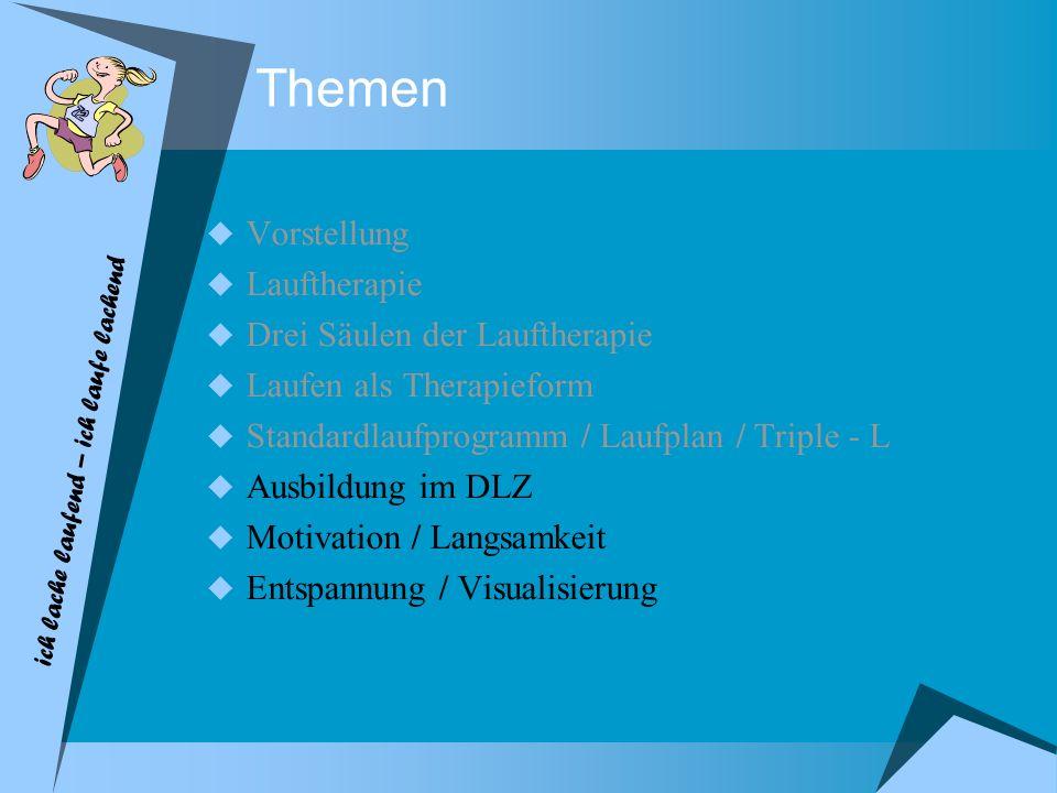 Themen Vorstellung Lauftherapie Drei Säulen der Lauftherapie