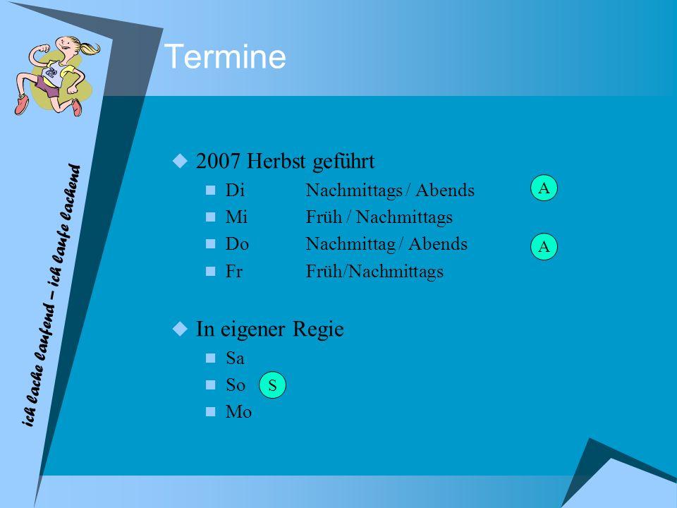 Termine 2007 Herbst geführt In eigener Regie Di Nachmittags / Abends