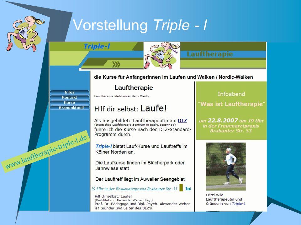 Vorstellung Triple - l www.lauftherapie-triple-l.de