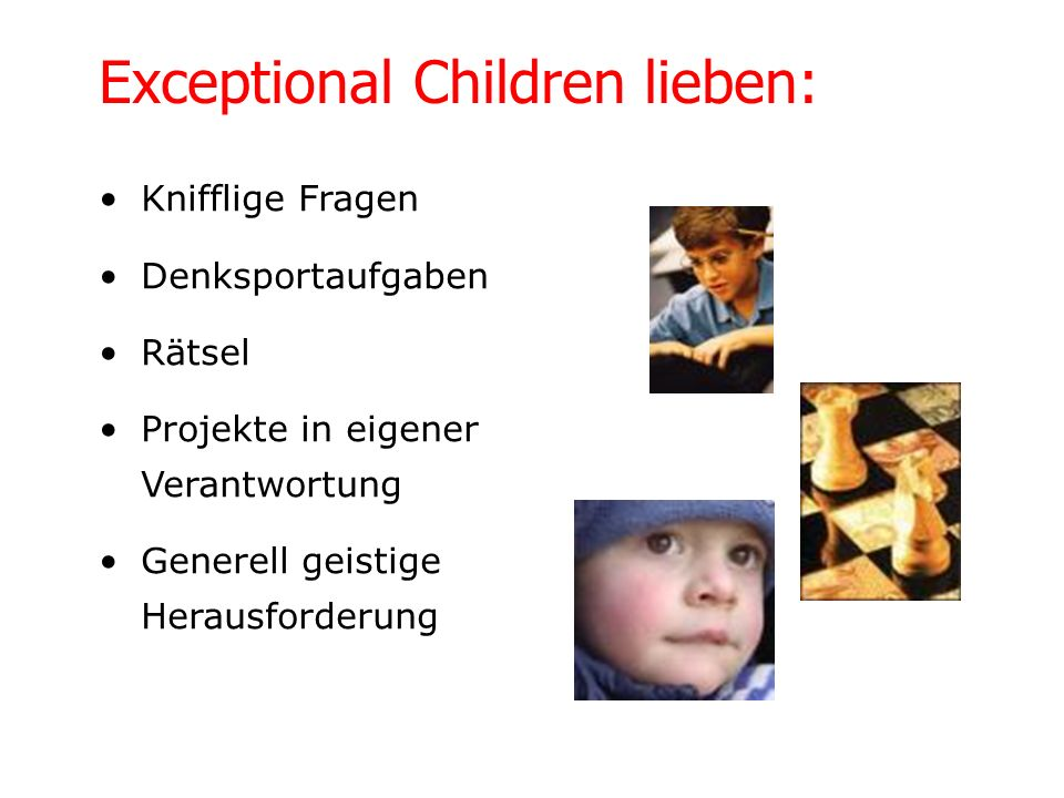 Exceptional Children lieben: