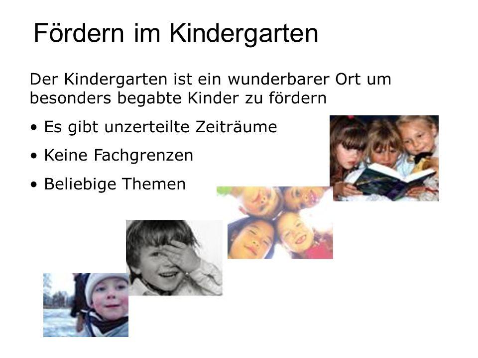 Fördern im Kindergarten